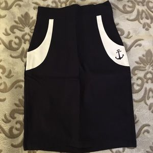 ModCloth Navy Pencil Skirt